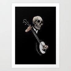 Skullboys' Banjo Blues Art Print
