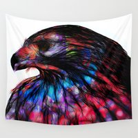 hawk Wall Tapestries featuring Hawk v3 by pbnevins
