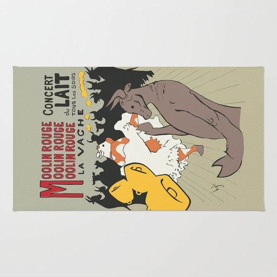 Moolin Rouge - This Cow Can Can Can Rug