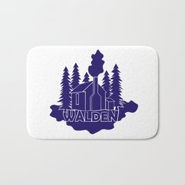 Walden - Henry David Thoreau (Blue version) Bath Mat