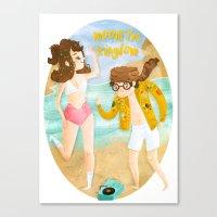 moonrise kingdom Canvas Prints featuring Moonrise Kingdom by Irena Freitas