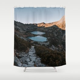 Mountain Ponds - Landscape and Nature Photography Shower Curtain