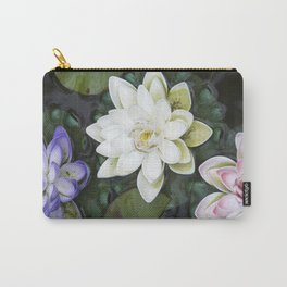 3 Lotus Flowers Carry-All Pouch