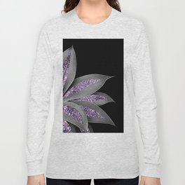Agave Finesse Glitter Glam #3 #tropical #decor #art #society6 Long Sleeve T-shirt