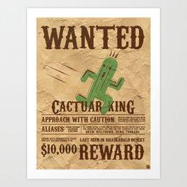 Wanted: The Cactuar King Art Print