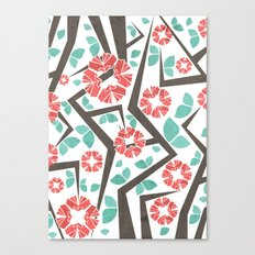 Blooming Trees Pattern IV Canvas Print