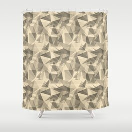 Abstract Geometrical Triangle Patterns 3 Valspar America Wood Yellow - Homey Cream - Glow Home Shower Curtain