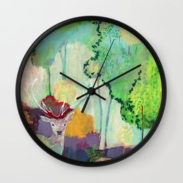 i am the meadow in the forest Wall Clock