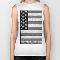 flag Biker Tanks featuring Flag by Keith Dotson