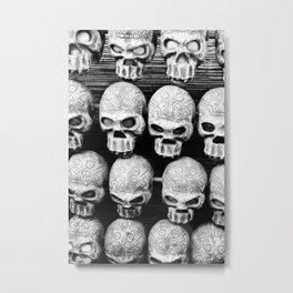 Calacas Metal Print