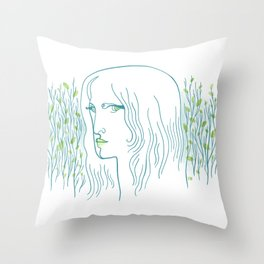 Woods Woman 1 Throw Pillow