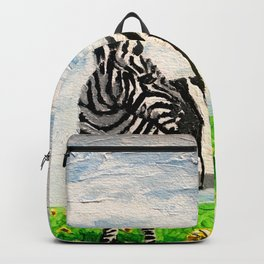 Stripes and Sunflowers Backpack