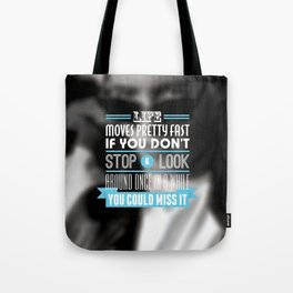 """""""FERRIS BUELLER"""" Typography Poster Tote Bag"""