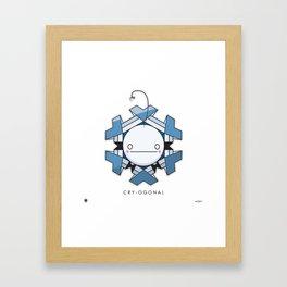 CRY-OGONAL Framed Art Print