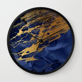Marbled Cosmic Space Dust Wall Clock