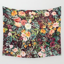 Fall Floral Wall Tapestry