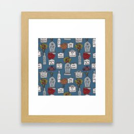 Humorous-Headstones Framed Art Print