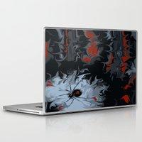 black widow Laptop & iPad Skins featuring widow by Shea33
