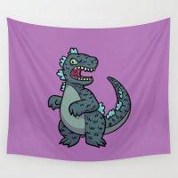 kaiju Wall Tapestries featuring Godzilla by lisanaffziger