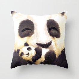 Cuddly panda Throw Pillow