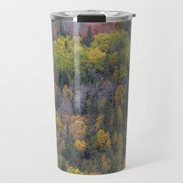 Detail of Peak Fall Colors in Northern Minnesota Travel Mug
