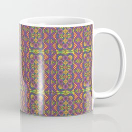 Stained Glass Patterned Zentangle Drawing Coffee Mug