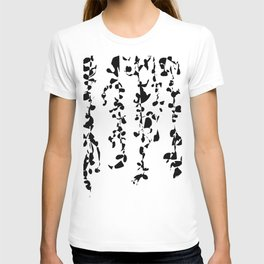 Vines - Black and white abstract T-shirt