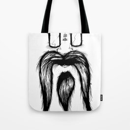 Blackie Beardy Face Tote Bag