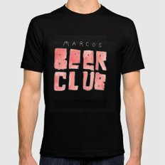 MARCOS BEER CLUB Black Mens Fitted Tee 2X-LARGE