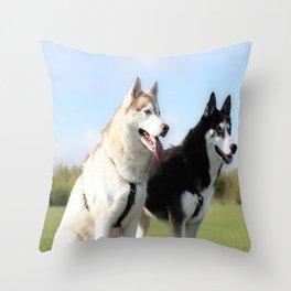 Beautiful Huskys Throw Pillow