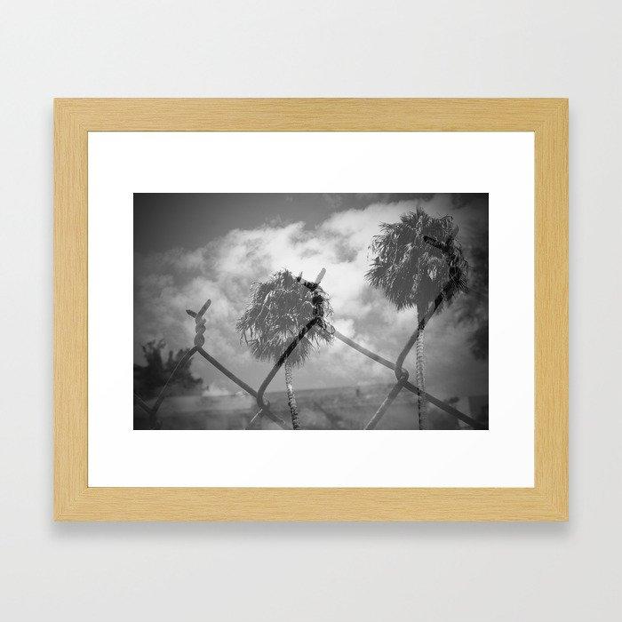 Caged LA Framed Art Print