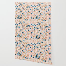 Mediterranean Geometric Shapes I. Wallpaper