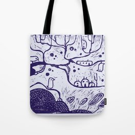 purple tree Tote Bag