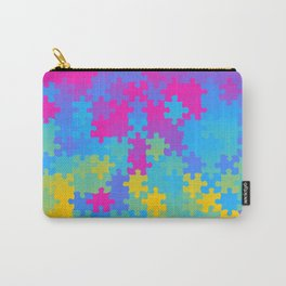 Pansexual Pride Puzzle Pieces Pattern Carry-All Pouch