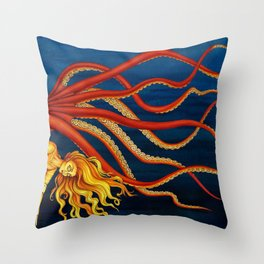 Pole Creatures - Mermaid Throw Pillow