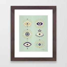 Evil Eye Collection Framed Art Print