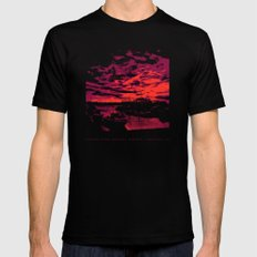 Sunset Over Bristol Harbor 2 Black Mens Fitted Tee LARGE