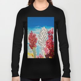 Alpinia purpurata – Red Ginger Flower Long Sleeve T-shirt