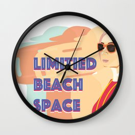 Limited Beach Space Wall Clock