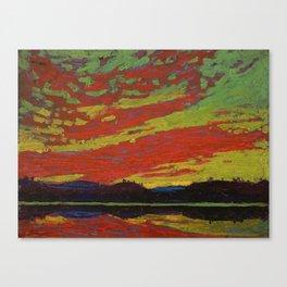 Tom Thomson Sunset Canadian Landscape Artist Canvas Print