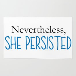 Nevertheless, She Persisted - Blue Rug