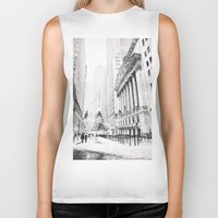 new york city Biker Tanks featuring New York City Christmas by Vivienne Gucwa