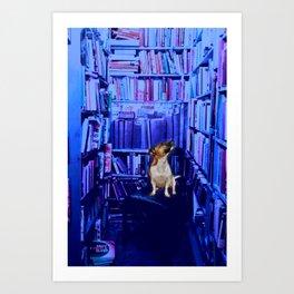 Curiously Blue Art Print