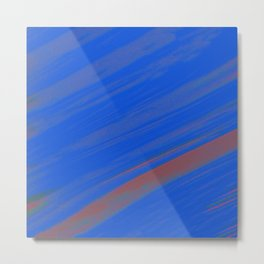 White Noise (Blue) Metal Print