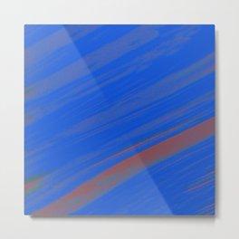 White Noise (Blue) Metal Print