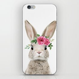 Baby Bunny with Flower Crown iPhone Skin