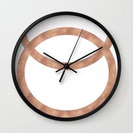Rose gold circles of infinity Wall Clock