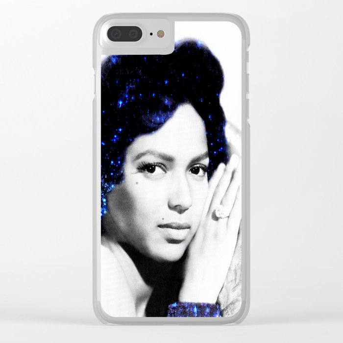 Dorothy Dandridge : Blue Sparkle Clear iPhone Case