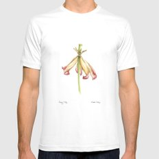Fading Tulip White SMALL Mens Fitted Tee