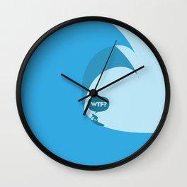 WTF? Surf! Wall Clock